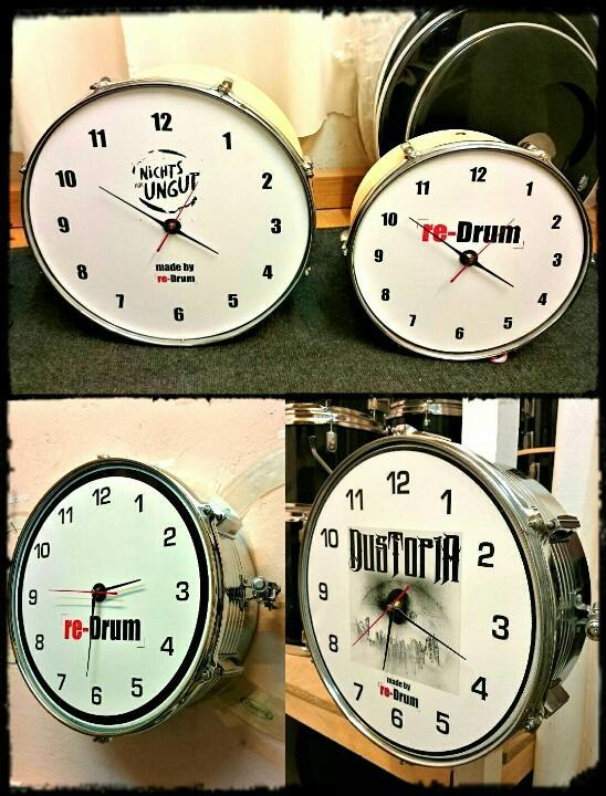 re-Drum Uhr, Beispiele